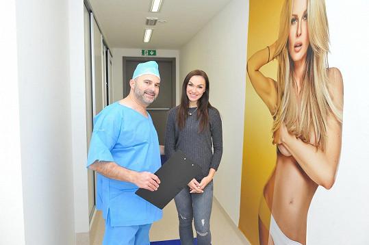 Kamila Nývltová těsně před operací