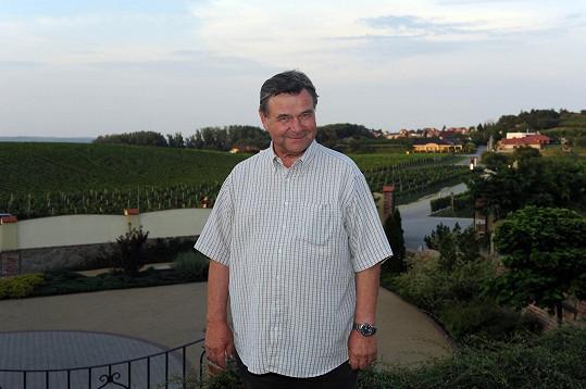 Václav Postránecký na vinici