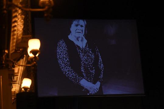 Projekce připomněla hereckou historii Vlasty Chramostové.