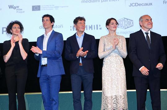 Filmová delegace (zleva Ksenia Rappoport, Jonas Chernick, Pavel Kříž, Klára Issová a Miroslav Táborský)