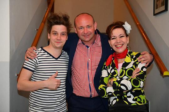 S Davidem Novotným a Michaelou Dolinovou