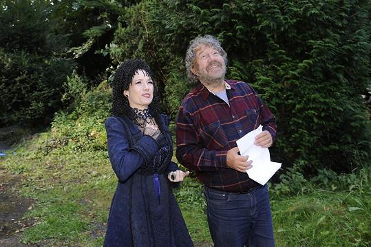 Kostková s režisérem Zdeňkem Troškou