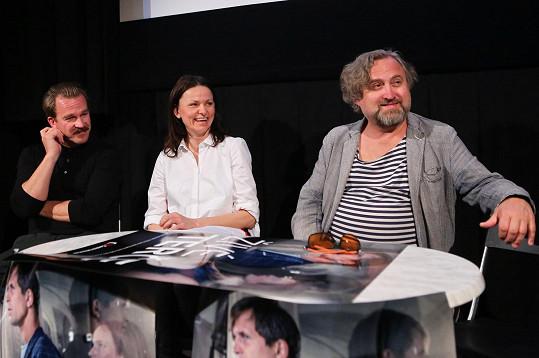 Na tiskové konferenci se Klára setkala s režisérem Janem Hřebejkem a kolegou Stanislavem Majerem.