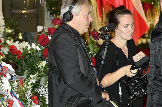 Dokumentaristka Olga Špátová natáčela dokument o Karlu Gottovi. Přišla i na Žofín.