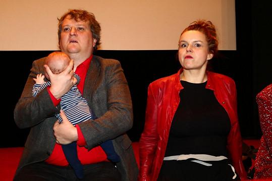Do kina Atlas na akci k filmu Mars herci dorazili i se synem Teem.