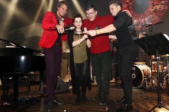 Zúčastnili se křtu alba a koncertu Ondřeje Gregora Brzobohatého.