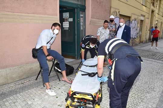 Záchranáři přijeli během dvaceti minut.