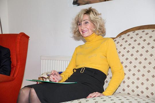 Zuzana Bubílková jako porotkyně na castingu Muže roku