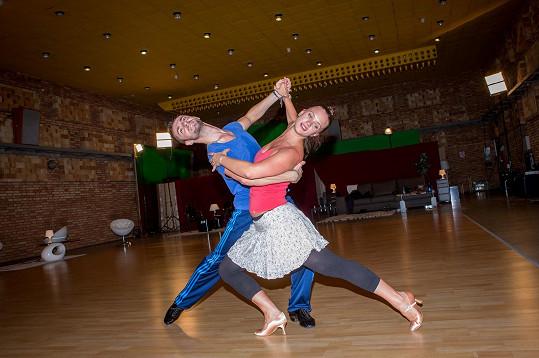 Kristýna Leichtová se svým tanečním partnerem Vaškem Masarykem