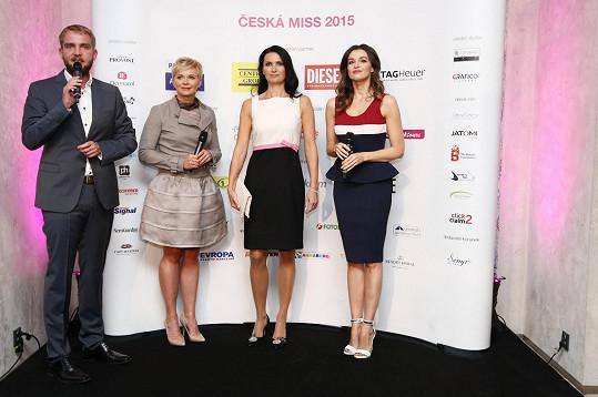 Libor Bouček s bývalou se současnou a bývalou ředitelku České Miss a patronkou soutěže Ivou Kubelkovou.