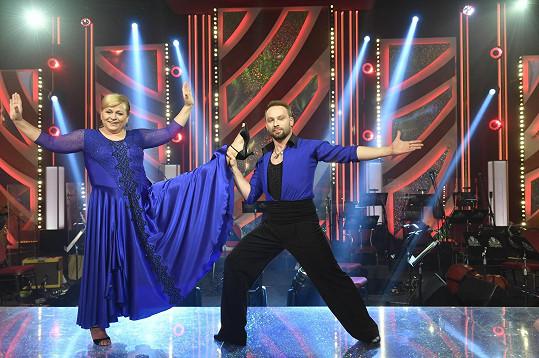 Herečka Pavla Tomicová a tanečník Marek Dědík