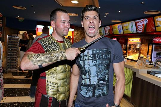 Vojnar dováděl na premiéře filmu Hercules.