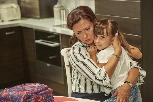Dana Morávková se svou seriálovou dcerou