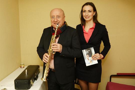Felix Slováček se svým saxofonem