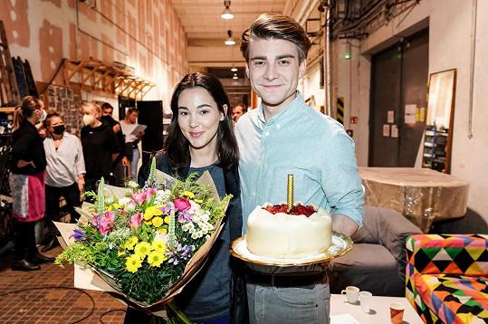 Vanda Chaloupková a Marek Lambora spolu na place oslavili i své narozeniny.