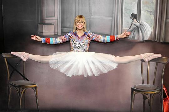 Štěpánka Duchková se zase vyfotila jako baletka.