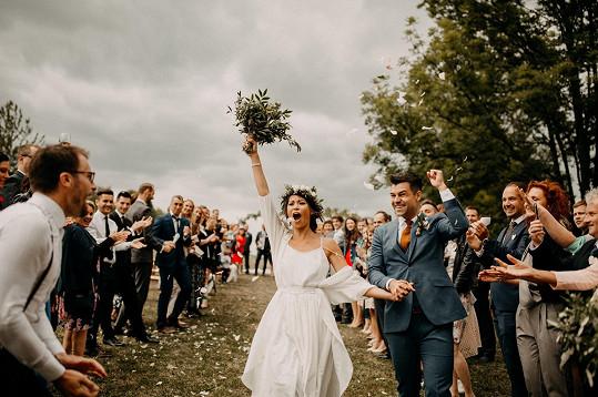 Za obchodního manažera Martina Košína se provdala před dvěma lety.