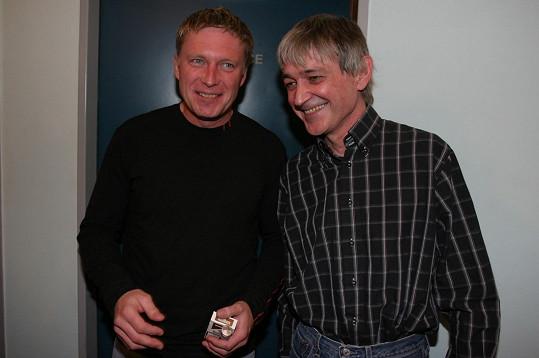 Vladimír Dlouhý s bratrem Michalem Dlouhým (vlevo), který je rovněž hercem