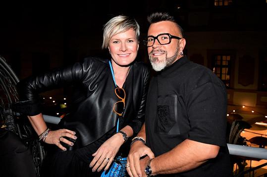 Hana Horová Freiberger s návrhářem Osmanym Laffitou