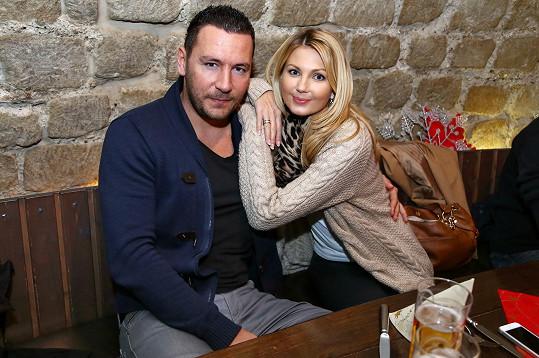 Sandra s přítelem Michalem Janotkou.
