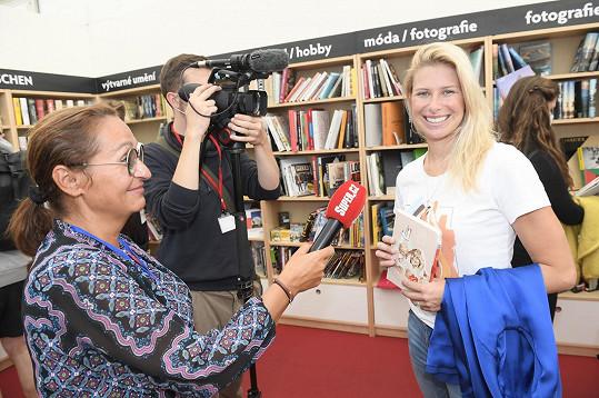 Andrea během rozhovoru se Super.cz