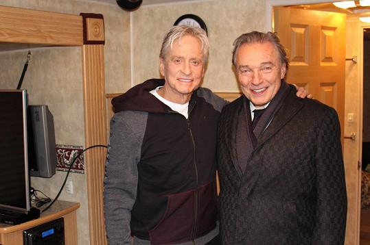 Karel Gott se vyfotil s Michaelem Douglasem.
