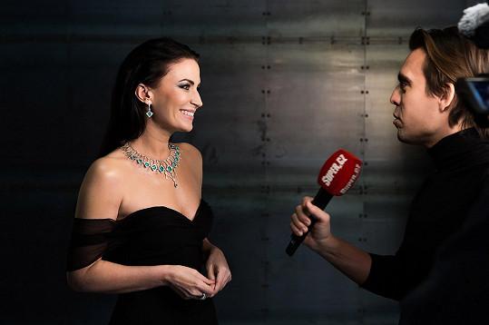 Gabriela Partyšová během rozhovoru pro Super.cz
