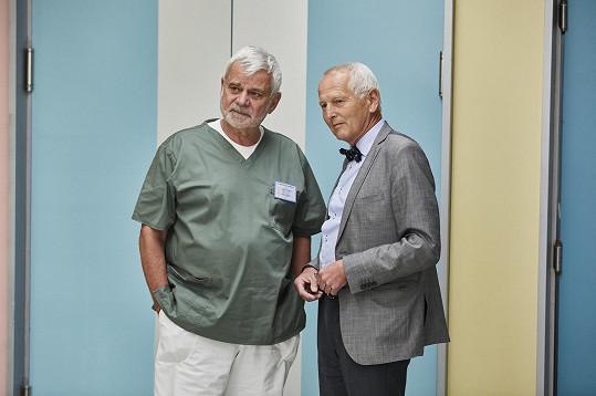 Jan Pirk s hercem Petrem Štěpánkem (vlevo)