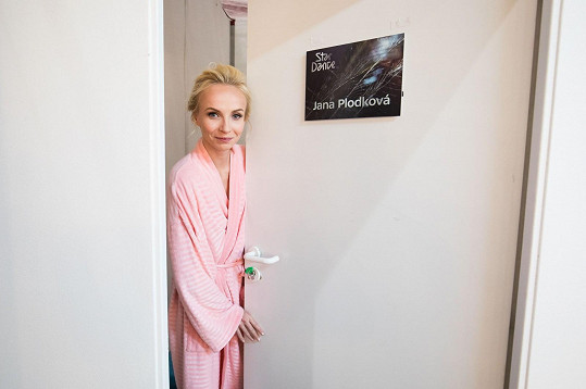 Jana Plodková nosí růžový model