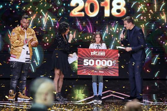 Vítězkou Talentu je Nikoleta Šurinová.