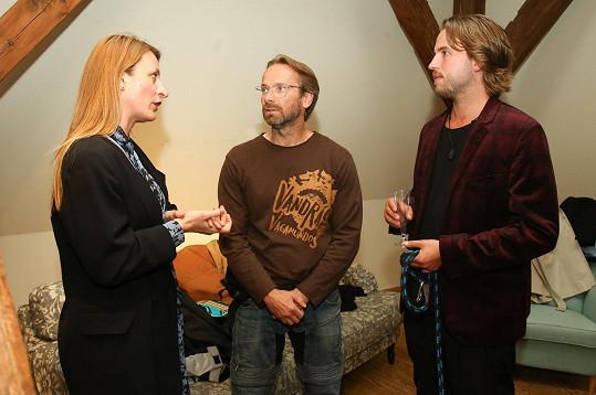 Anička Polívková se setkala se svým ex Michalem Kurtišem a Janem Révaiem na křtu knihy Koruna Evropy.
