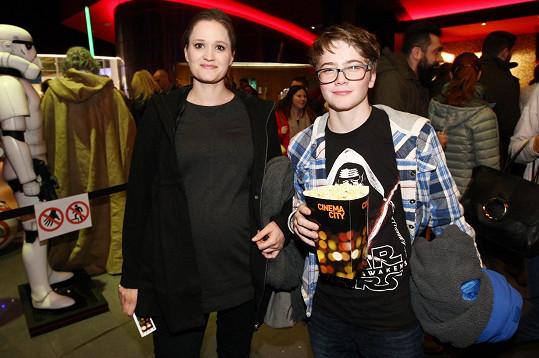 Natálie Kocábová s nejstarším synem Vincentem.