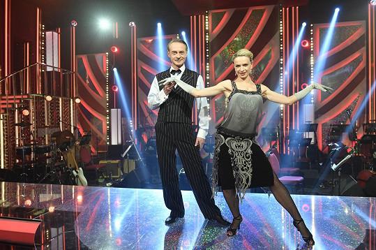 Herec Jiří Dovřák a tanečnice Lenka Nora Návorková