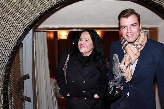 Hana Gregorová a Ondřej Koptík společně přišli na křest knihy Moje Praha.