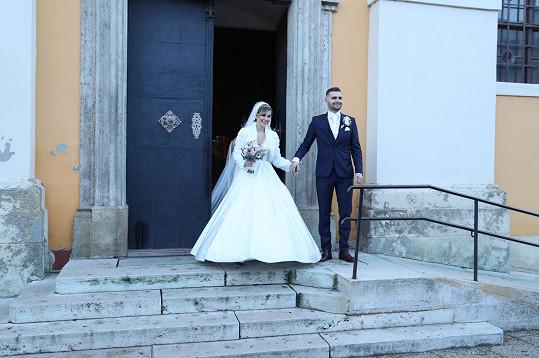 Dominika se vdávala v šamorínském kostele.