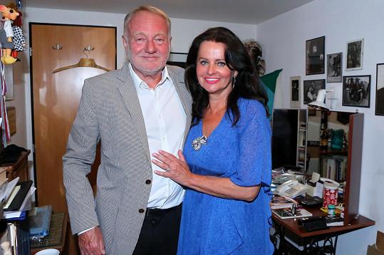 Luděk Sobota s manželkou Adinou
