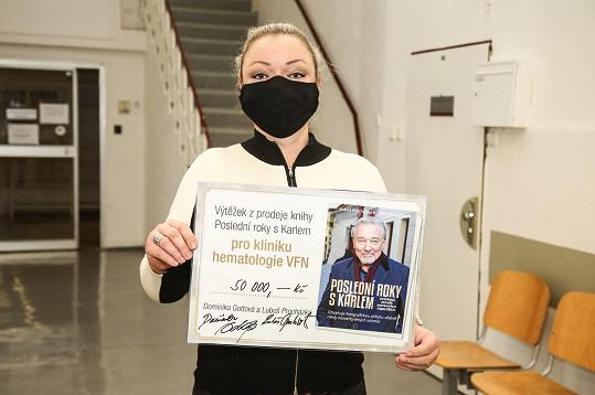 Dominika Gottová se rozhodla věnovat 50 tisíc korun.