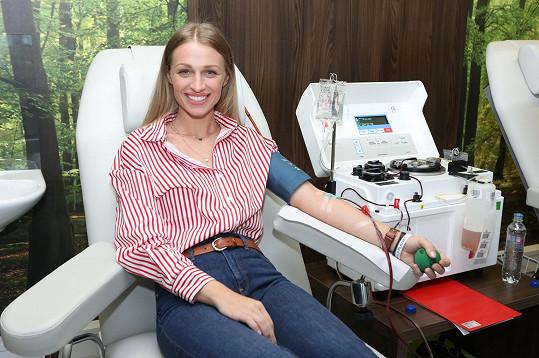 Veronika Kašáková darovala plazmu poprvé.
