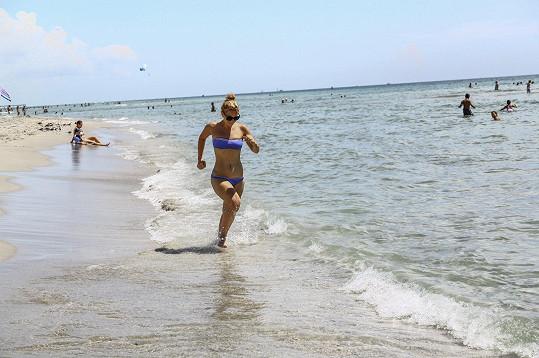 Michaela Nosková léto trávila na Miami.