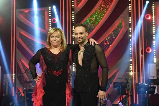 Pavla Tomicová s Markem Dědíkem v sobotu zatančili rumbu.