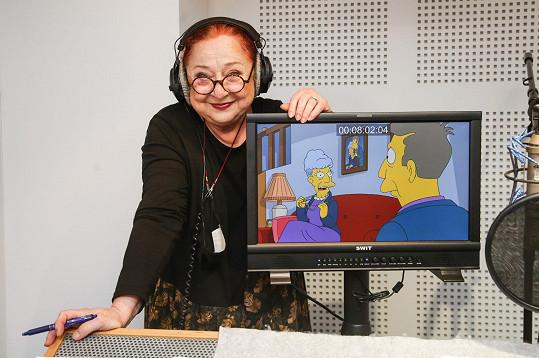 Ludmila Molínová dabuje v seriálu Simpsonovi různé vedlejší postavy skoro 30 let.