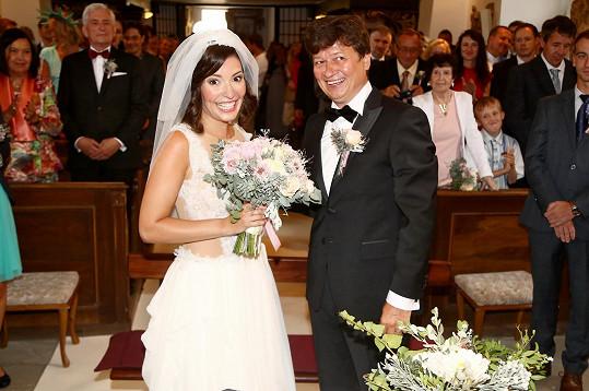 Novomanželé Karel Janák a Romana Goščíková