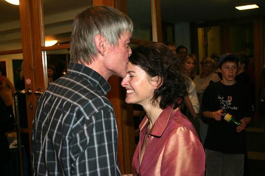 Vladimír Dlouhý se svou druhou ženou Petrou Jungmanovou