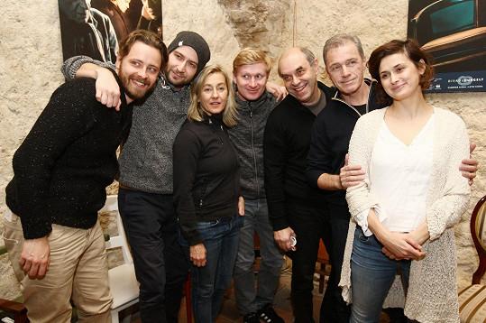 S kolegy z Divadla Ungelt už se těší na premiéru.