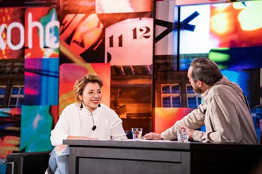 Potkali jsme se na natáčení talk show 7 pádů Honzy Dědka.