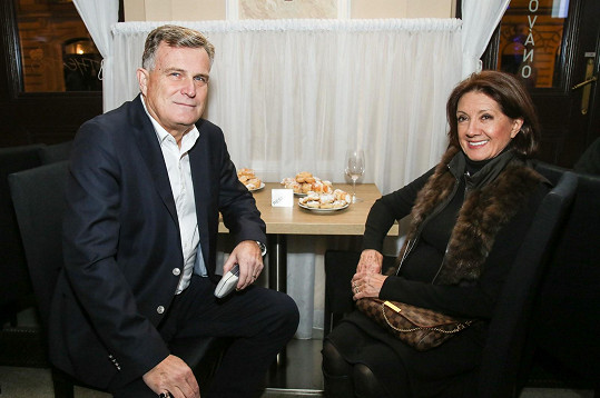 Marie Rottrová s manželem Milanem Říhou