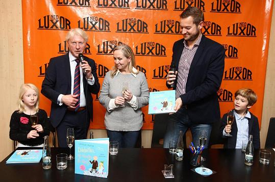 Bářin syn byl kmotrem knihy o etiketě pro děti Ladislava Špačka.