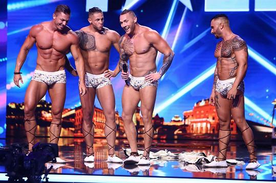 Kluci z Gentlemen Slovakia se v Talentu svlékli.