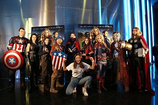 Monika Leová na premiéře filmu Captain Marvel