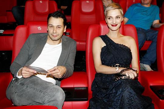 Bára Poláková s Pavlem Liškou na premiéře filmu Kvarteto.
